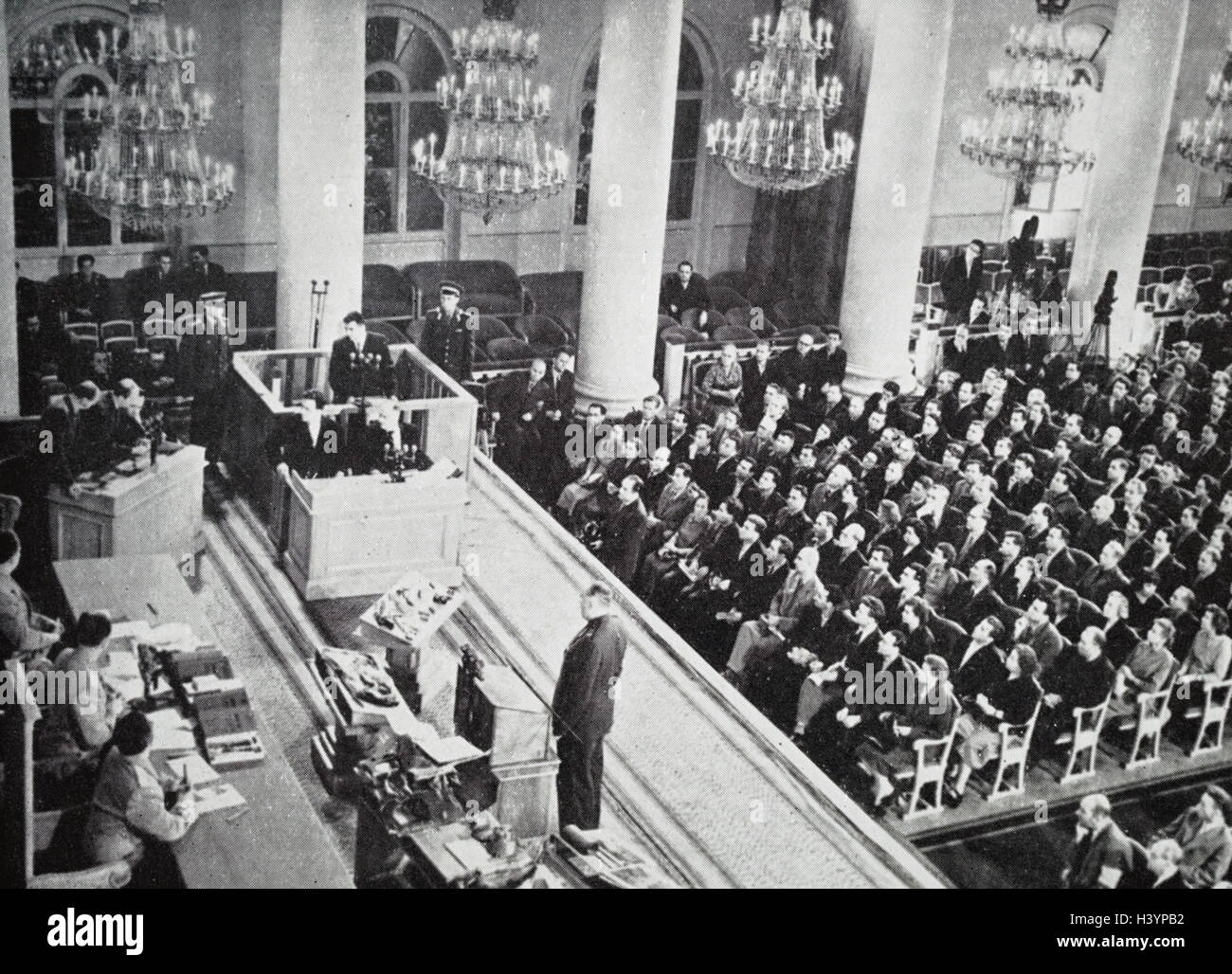 Photograph taken during the trial of Francis Gary Powers - Stock Image