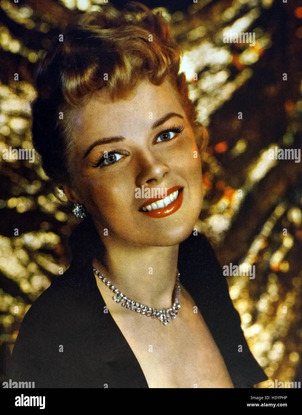 Photograph of Sally Forrest (1928-2015) an American film, stage and TV actress. Dated 20th Century - Stock Image