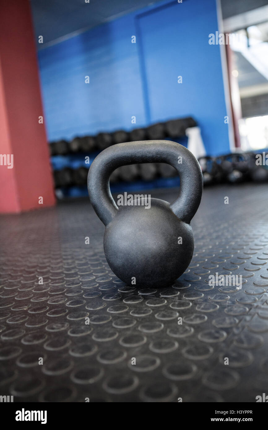 Kettlebell in gym - Stock Image