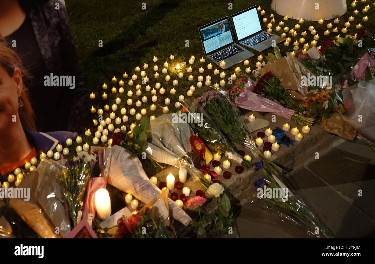 vigil for Jo Cox was a British Labour Party politician. She was the Member of Parliament (MP) from May 2015 to her - Stock Image