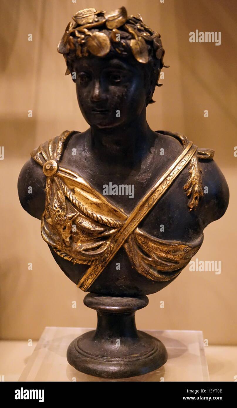 Bronze but of Antinous - Stock Image
