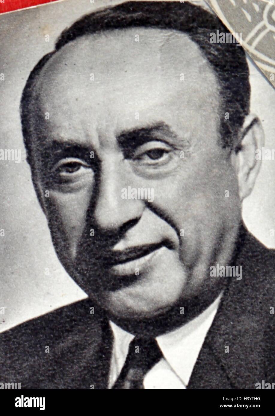 Photograph of Joe Pasternak (1901-1991) a Hungarian-born American film producer. Dated 20th Century - Stock Image