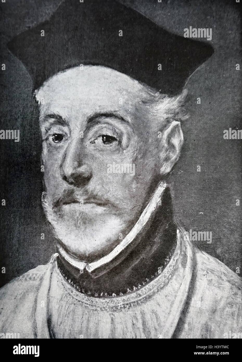 Portrait of Diego de Covarrubias y Leyva - Stock Image