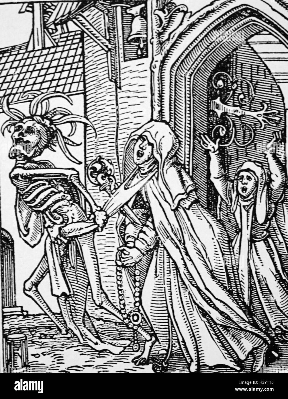 Print from the 'Dance of Death' by Hans Holbein the Younger - Stock Image