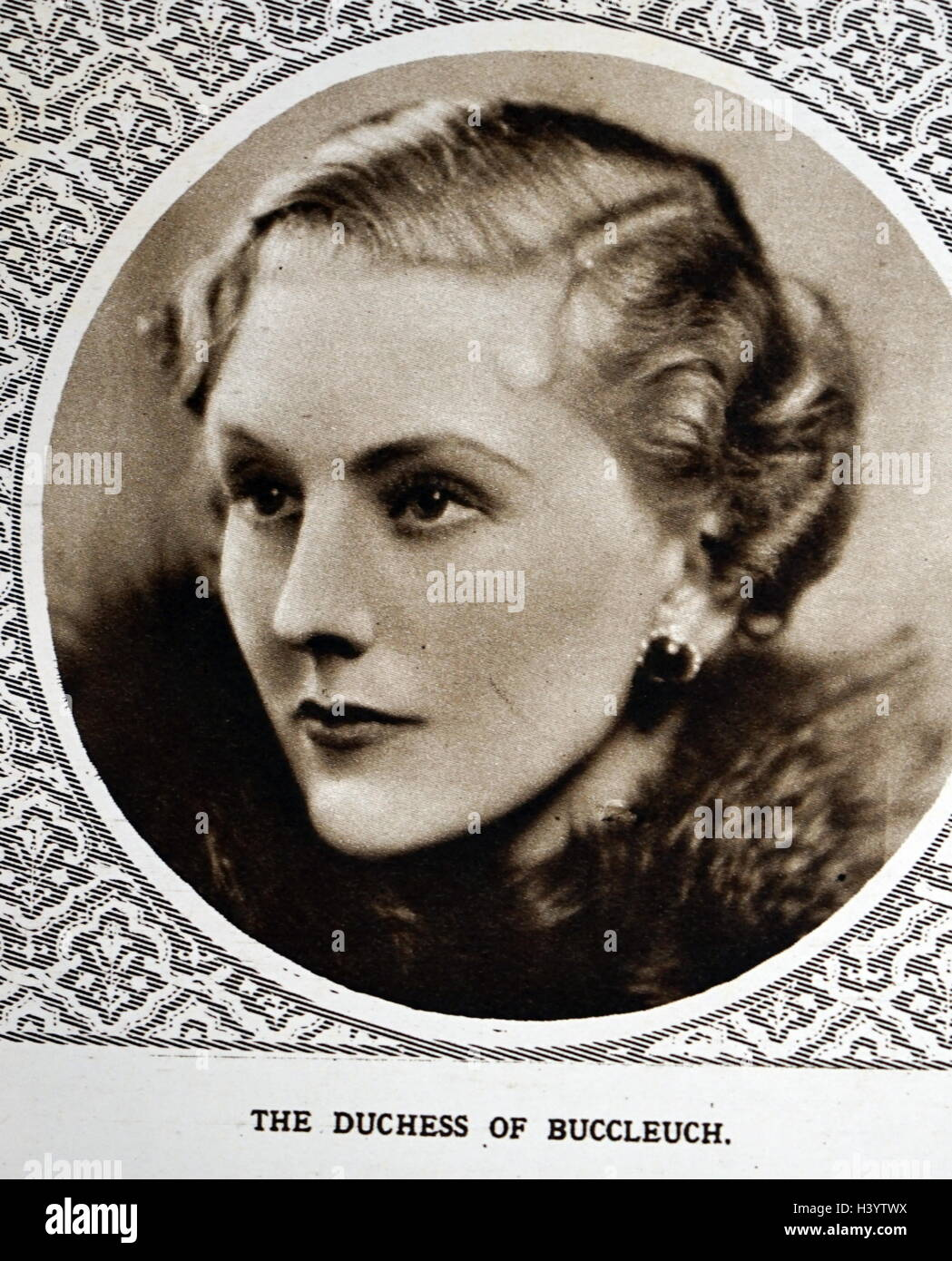 Photograph of Jane Scott, Duchess of Buccleuch - Stock Image