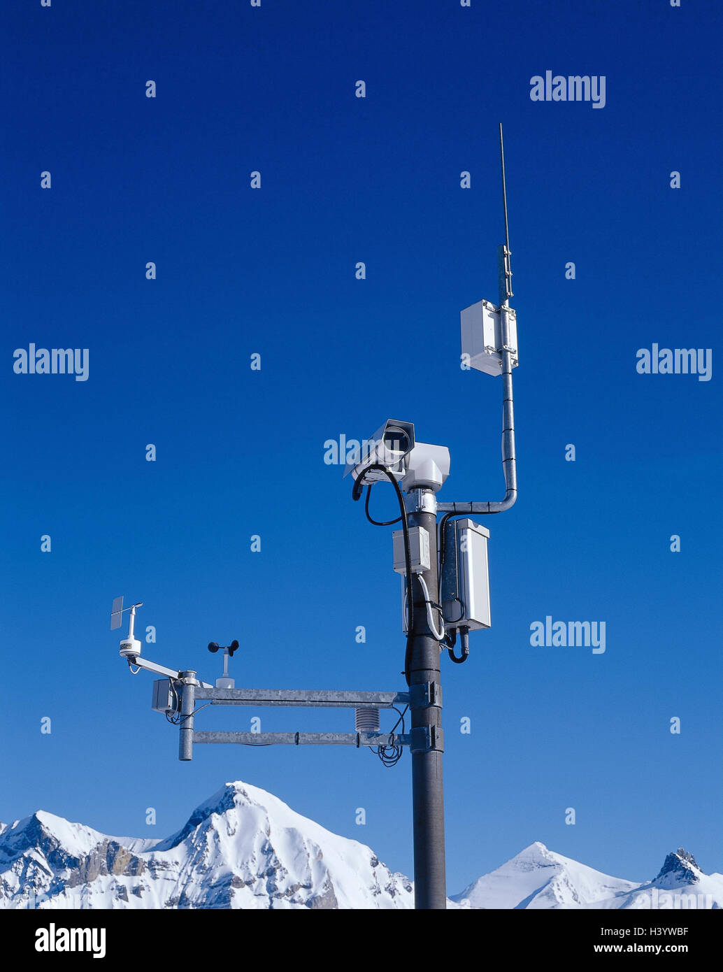 Switzerland, the Bernese Oberland, Adel's floor, video camera, weather television, Europe, Sillerenbühl, - Stock Image
