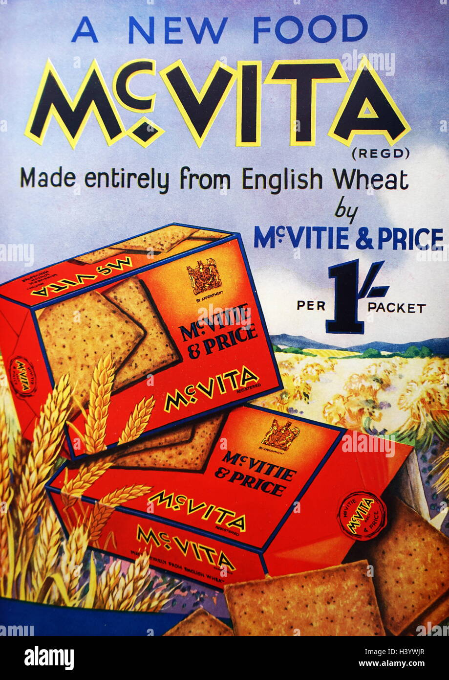 Advert for McVita crackers. Dated 20th Century - Stock Image