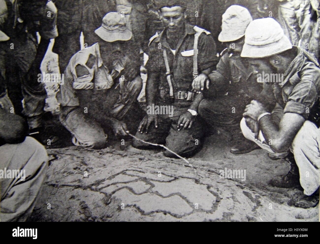 Photograph of an Israeli Commander planning a military manoeuvre. Dated 20th Century - Stock Image