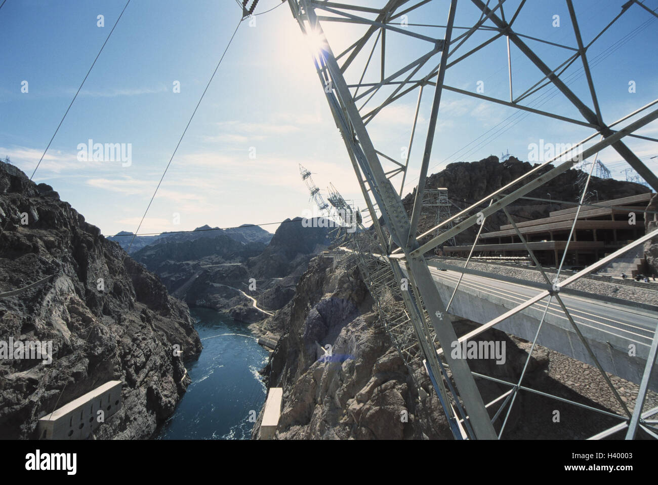 The USA, Nevada, Las Vegas, Hoover Staudamm, detail, valley view, the United States America, west coast, Colorado Stock Photo