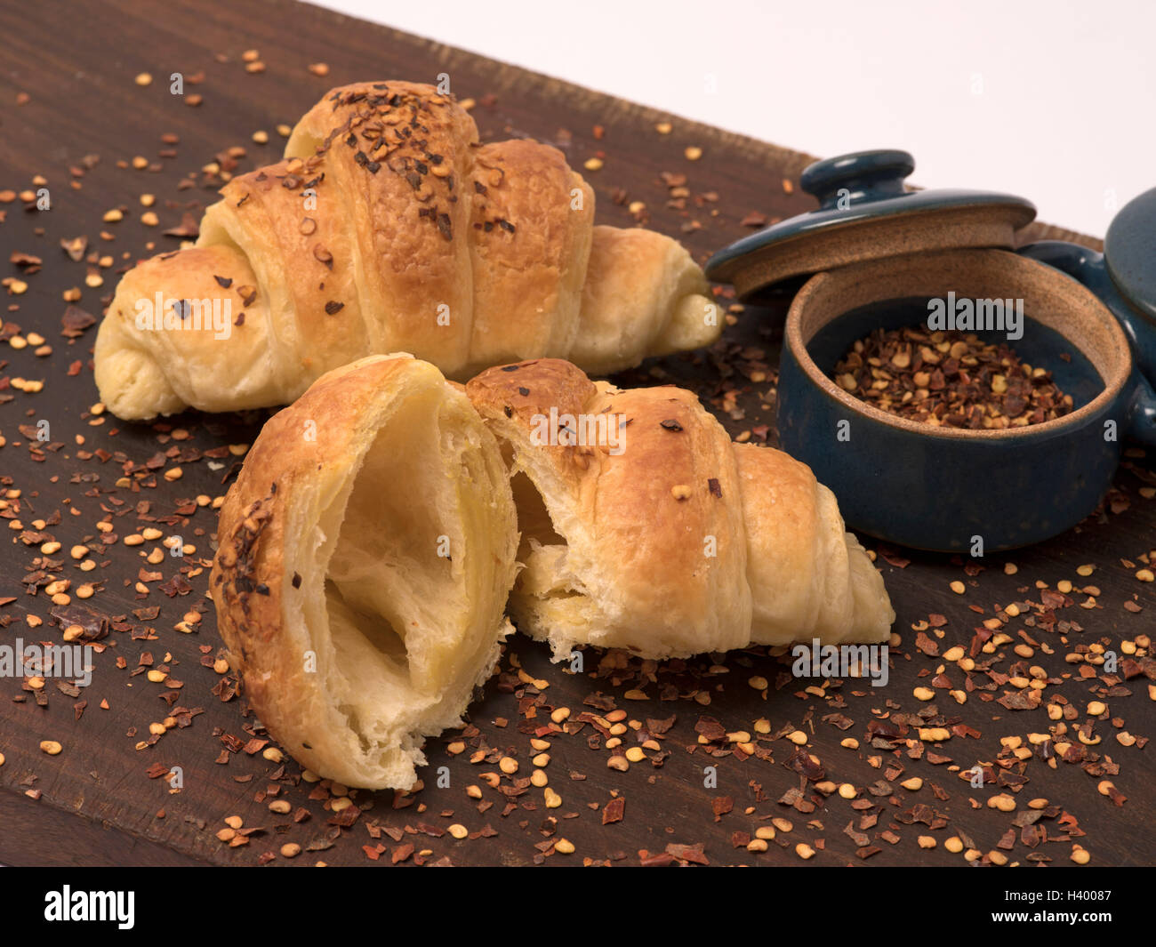 CHEESE CHILLI CROISSAND - Stock Image
