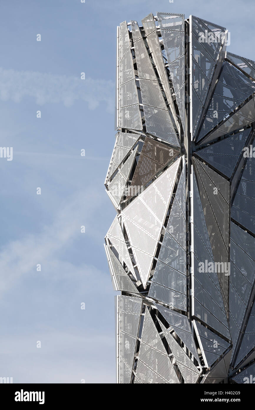 The Optic Cloak, Greenwich Peninsula, London. - Stock Image