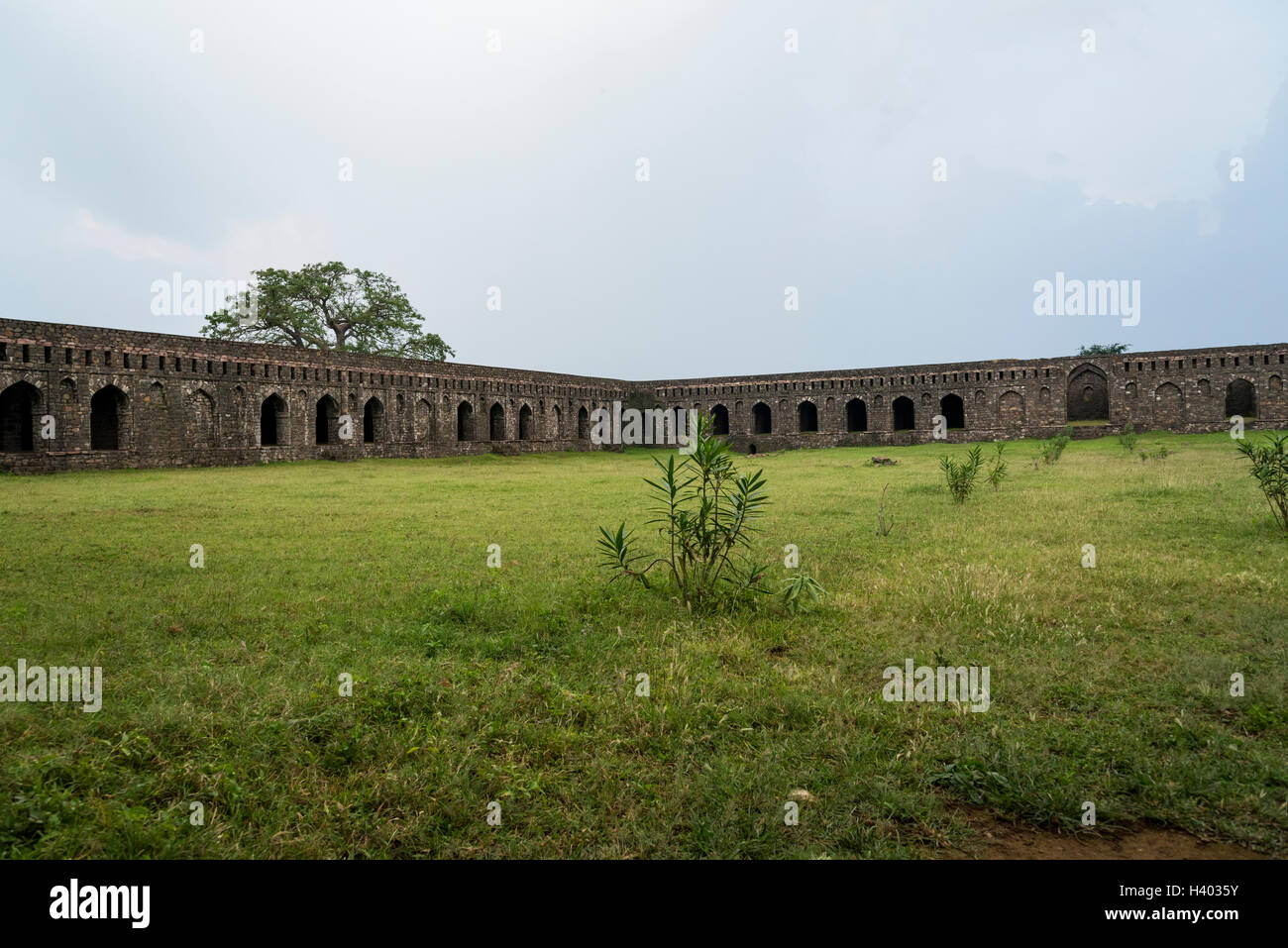 'Carvan-Sarai', built in 1437 AD is a large inn comprising an extensive court resembling the medieval inns - Stock Image