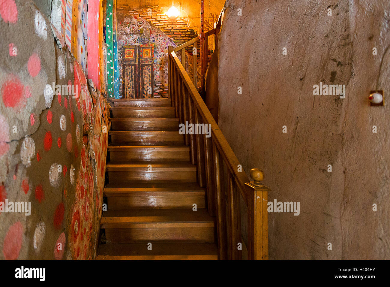 Artsy staircase. - Stock Image