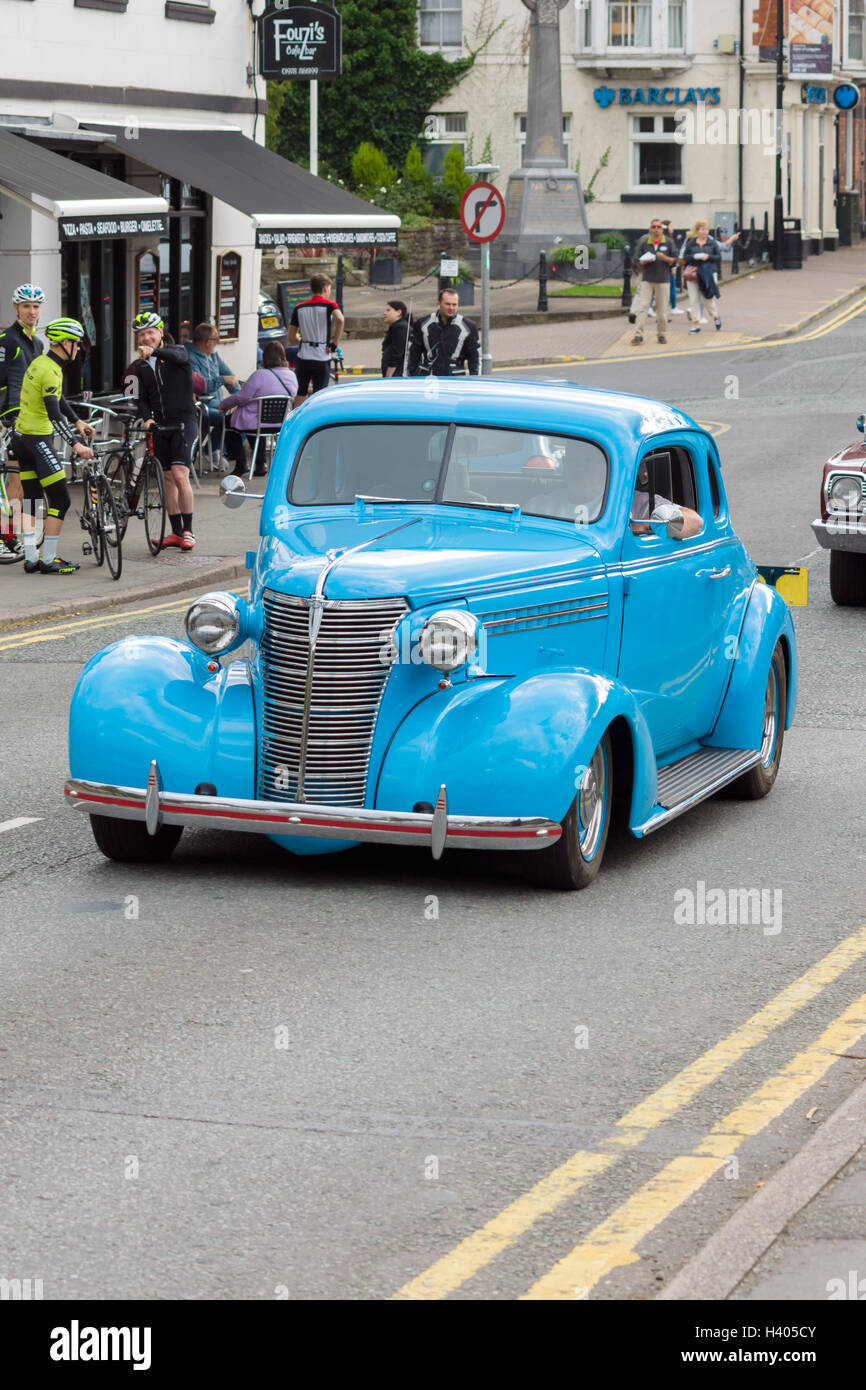 Chevrolet hot rod custom car driving through Castle Street Stock ...