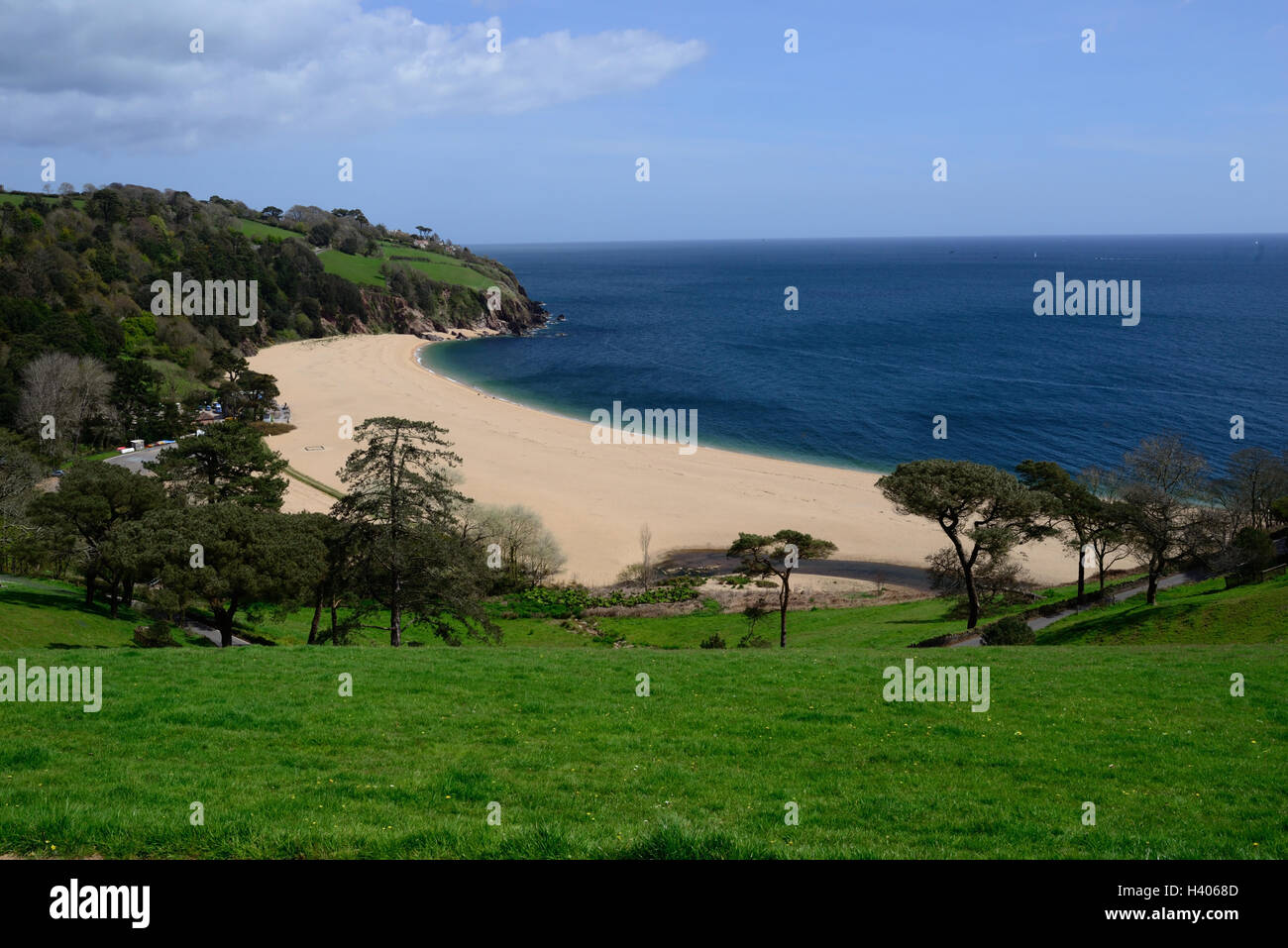The beach at Blackpool Sands, South Devon. - Stock Image