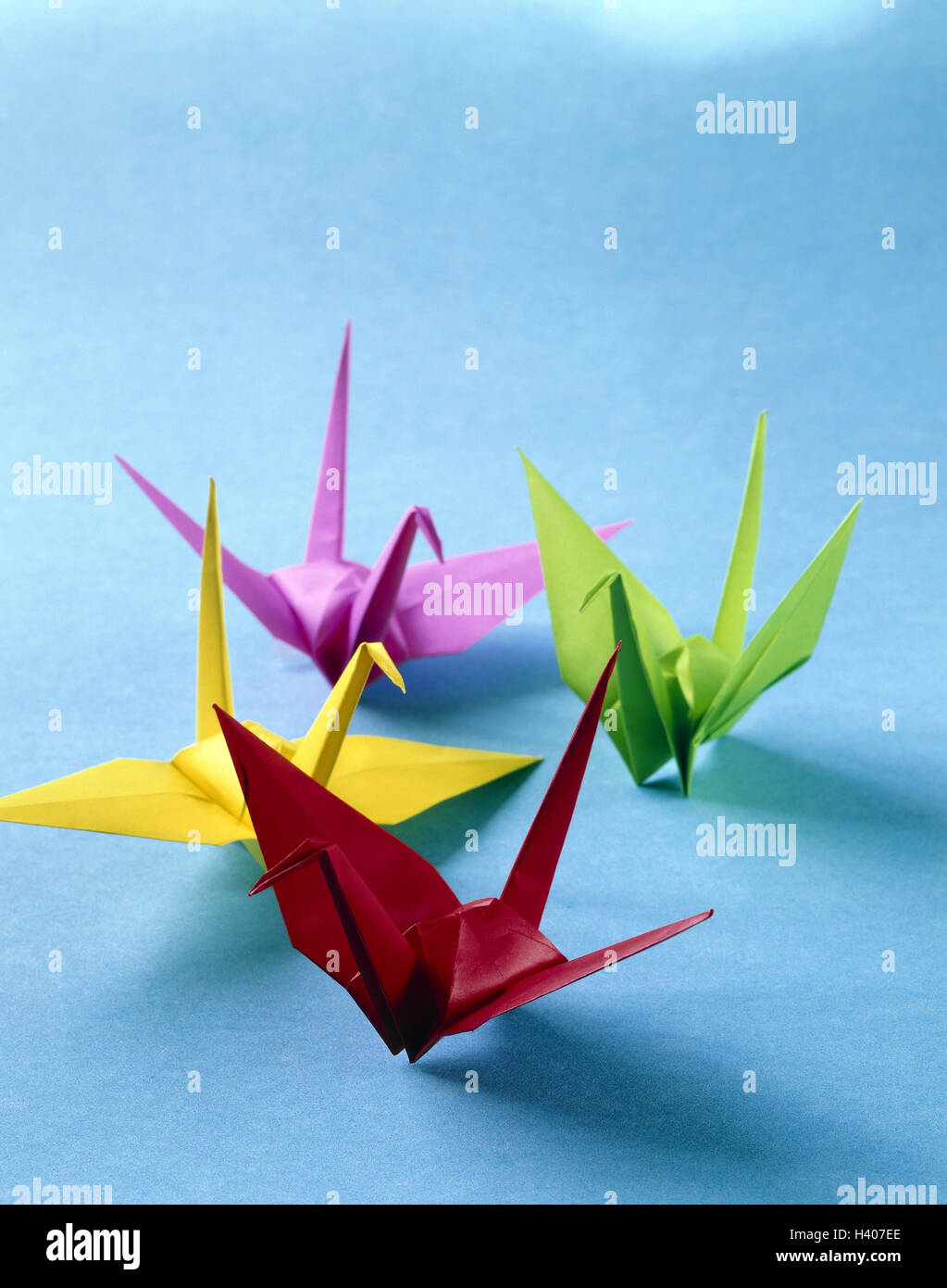 Origami Japanese Paper Folding Art Animals Birds Brightly Japan Characters Mythical Figures Four Colourfully Fold Skill