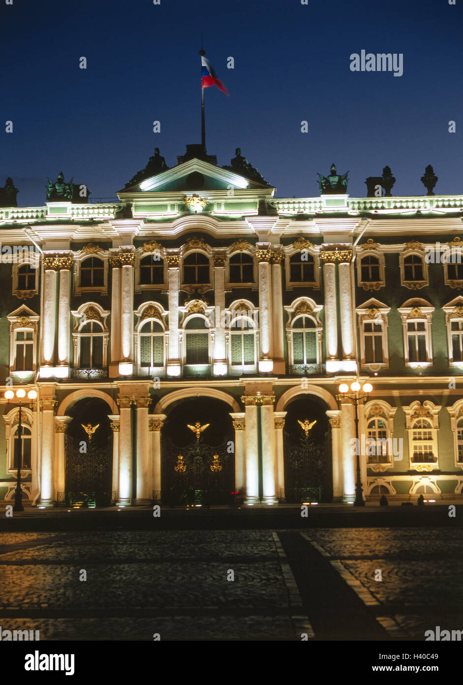 Russia, Saint Petersburg, castle square, the Hermitage Museum, winter palace, input, evening Eurasia, Europe, East, Stock Photo