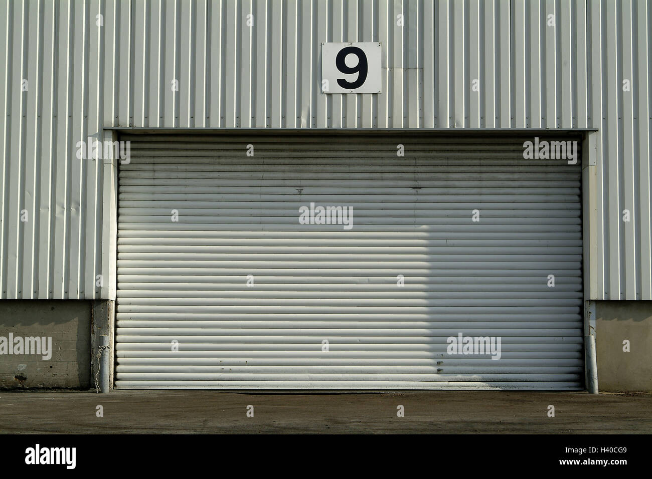 Charmant Warehouse, Detail, Garage Door, Support, Hall, Corrugated Iron, Corrugated  Iron
