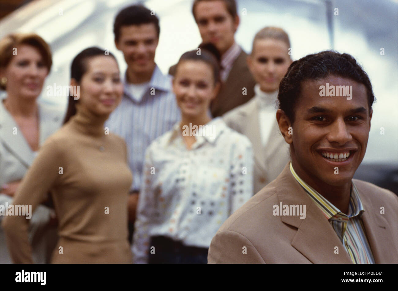 Businessman, in Indian, background group, employee, business, office, manager, entrepreneur, team leader, manager, - Stock Image