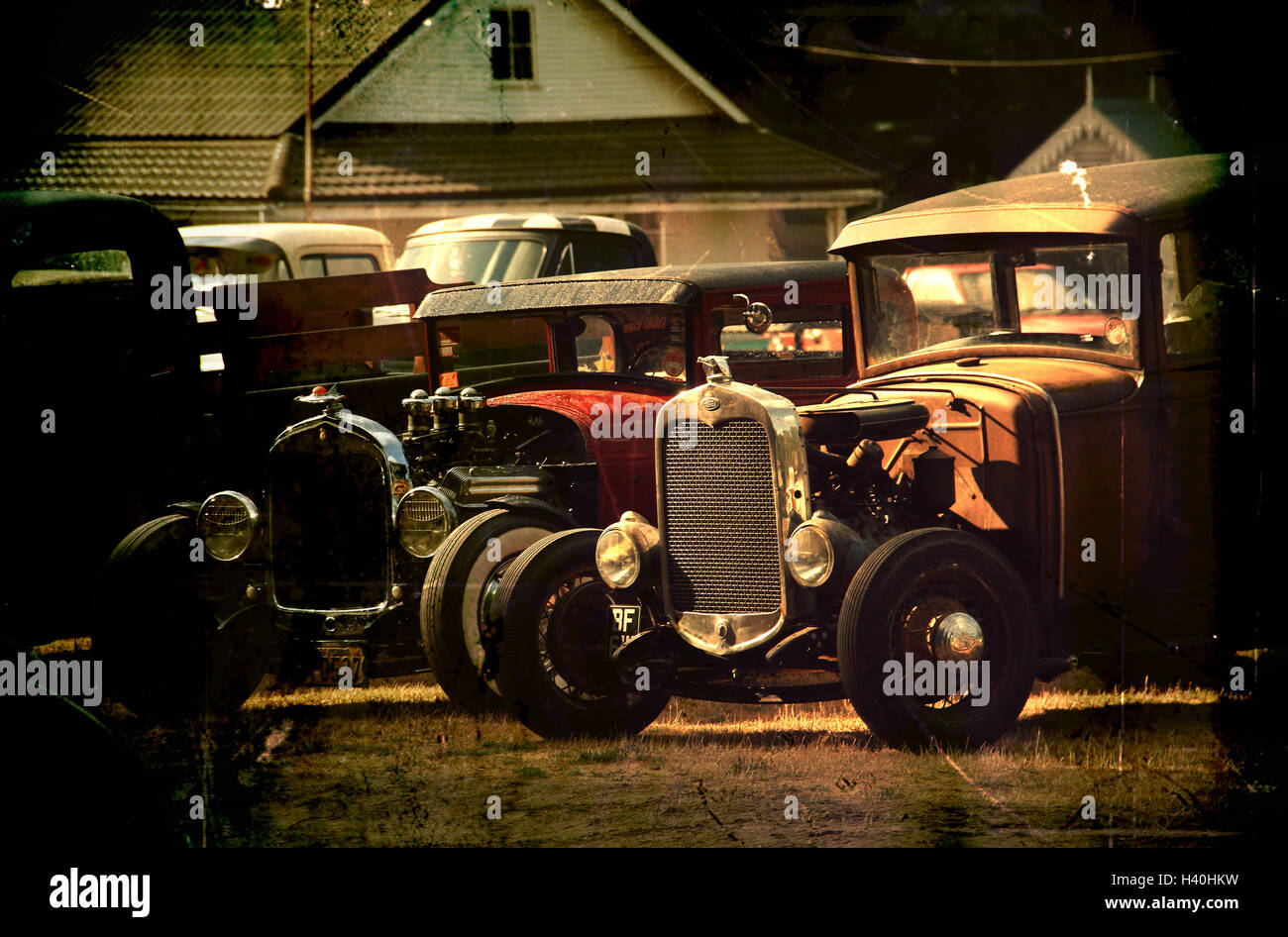 Model A Hot rods - Stock Image