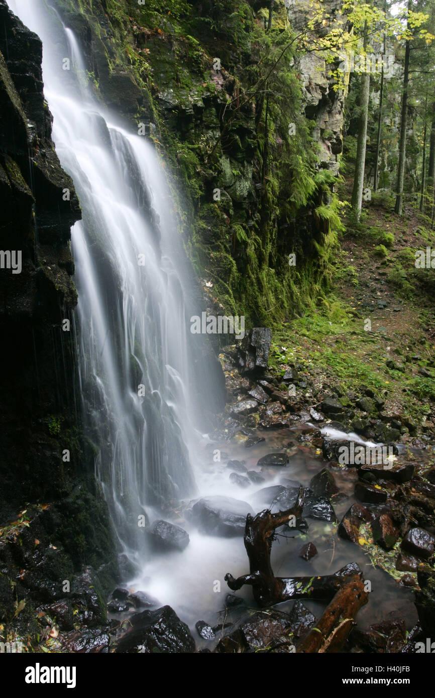 Germany Baden Wurttemberg Bath Rippoldsau Castle Brook Waterfall