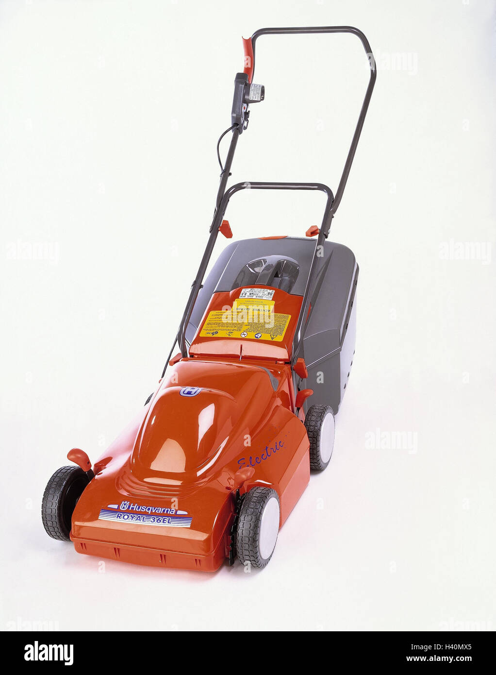 Lawn mower, electrically, producer, Husqvarna, model, royal 35 tablespoons, garden tools, gardening tool, electric - Stock Image