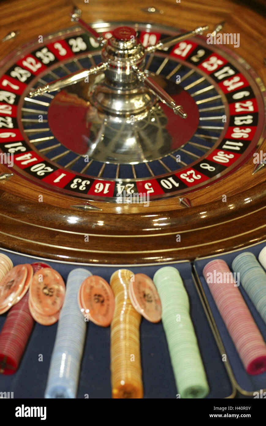 Casino, roulette, tokens, detail, casino, game chance, game, risk, chance, roulette game, roulette, roulette game, - Stock Image