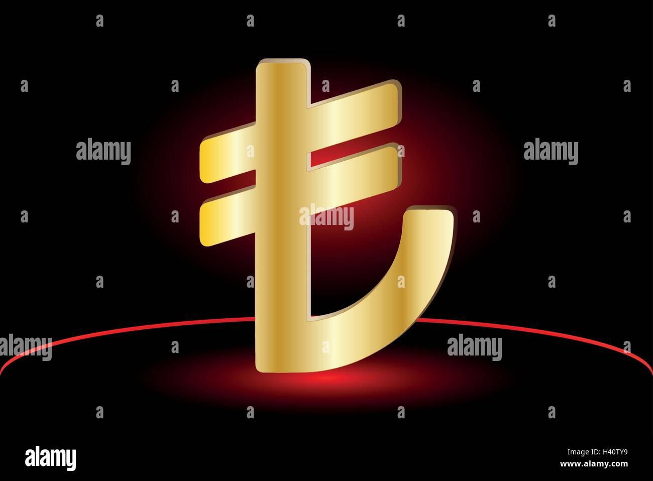 Turkish lira symbol ,Turkish lira icon, Stock Vector