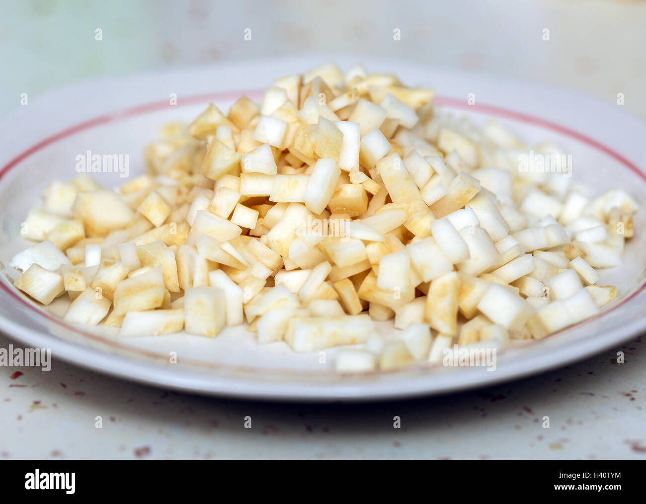 Chopped Celery High Resolution Stock Photography And Images Alamy