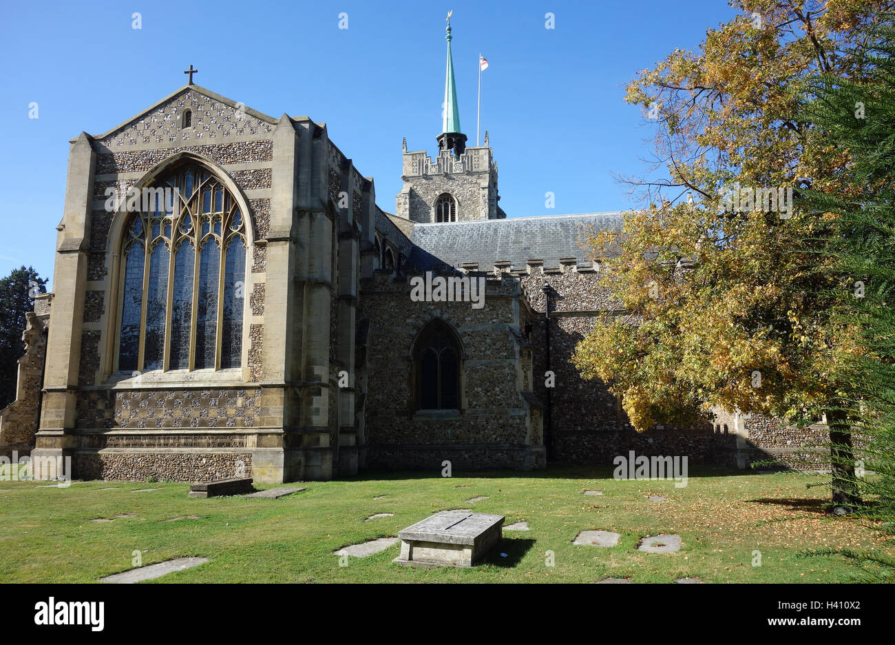 Chelmsford Cathedral on a sunny day - Stock Image