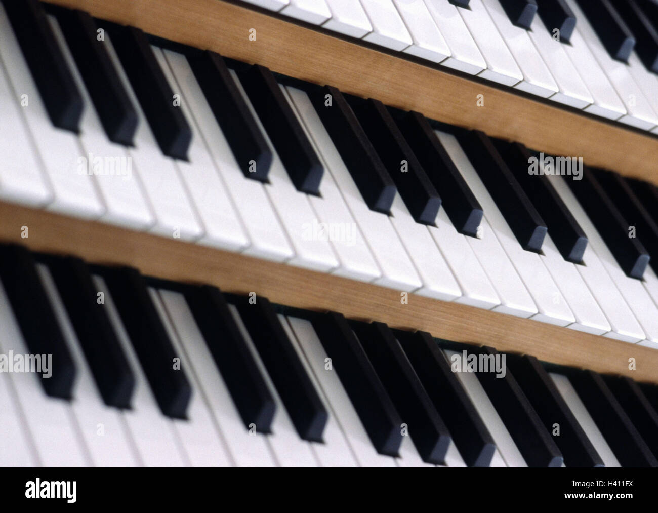 Organ, buttons, detail, organ keyboard, digits, keyboard, keyboard, organ buttons, music, musical instrument, instrument, - Stock Image