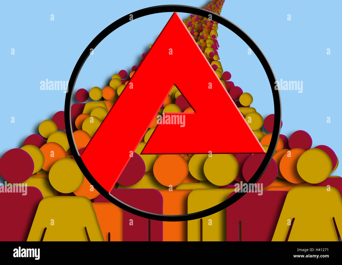 Computer graphics,crowd people,employment centre icon,employment centre,administration office,work,job,office,authority,figure,employment - Stock Image