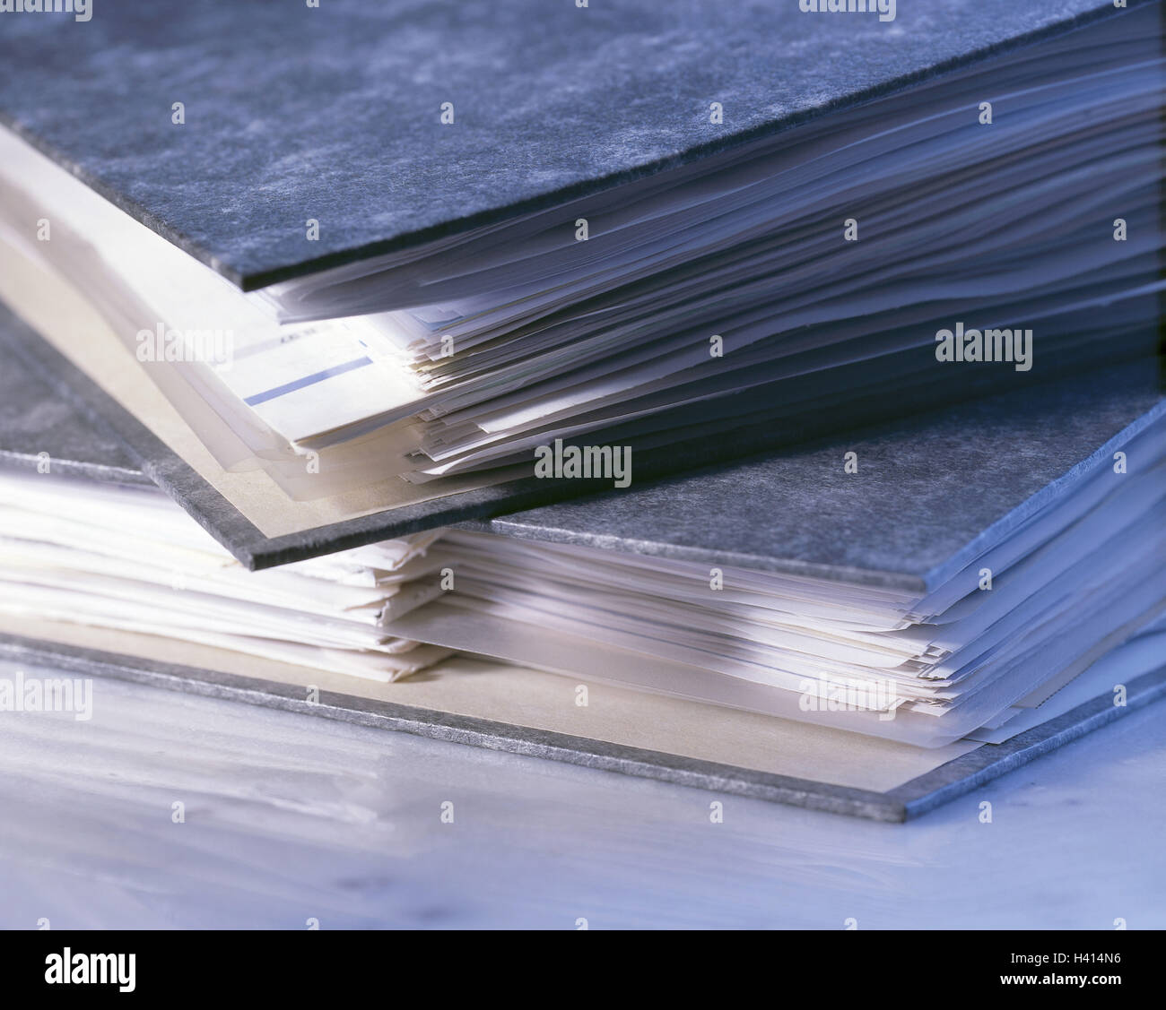 Folders, two, close up, office, office equipment, office implements, folders, files, bases, documents, remove, filed - Stock Image