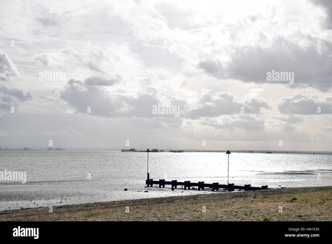 Southend-on-Sea with pier in the background, Essex UK - Stock Image