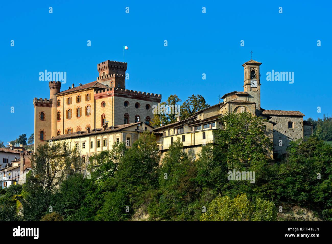 Barolo Castle,  Castello di Barolo, Barolo, Piedmont, Italy - Stock Image