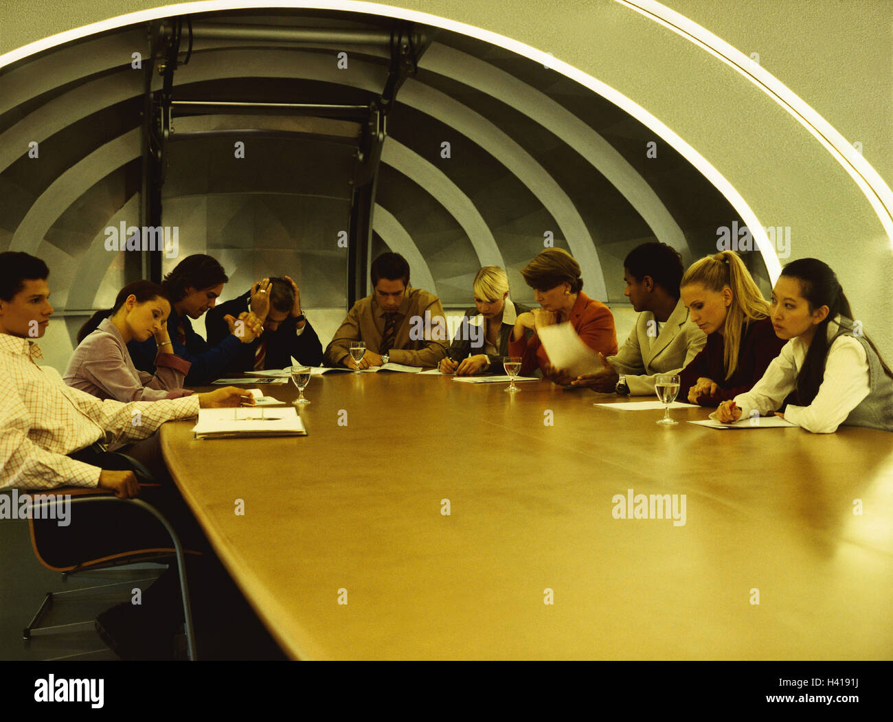 Conference room, business people, discussion, dismay, business, conference room, discussion room, conference room, - Stock Image