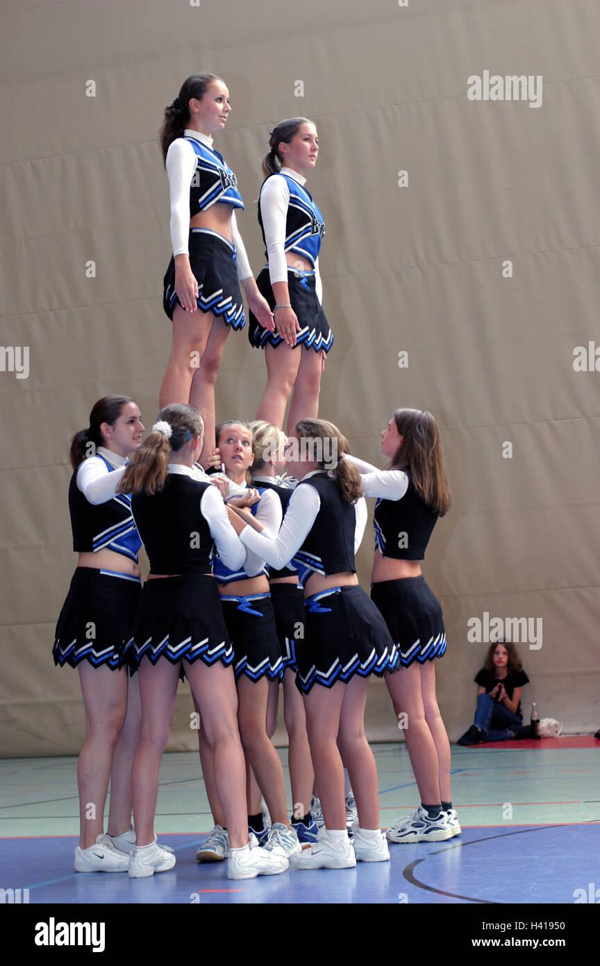 Cheerleaders, showing,