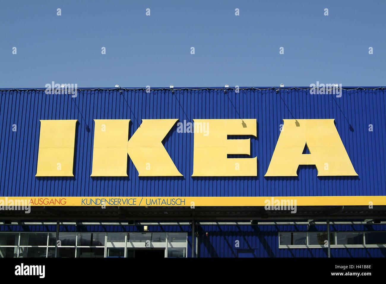 Furniture Shops Facade Advertising Sign Company Logo Ikea Stock