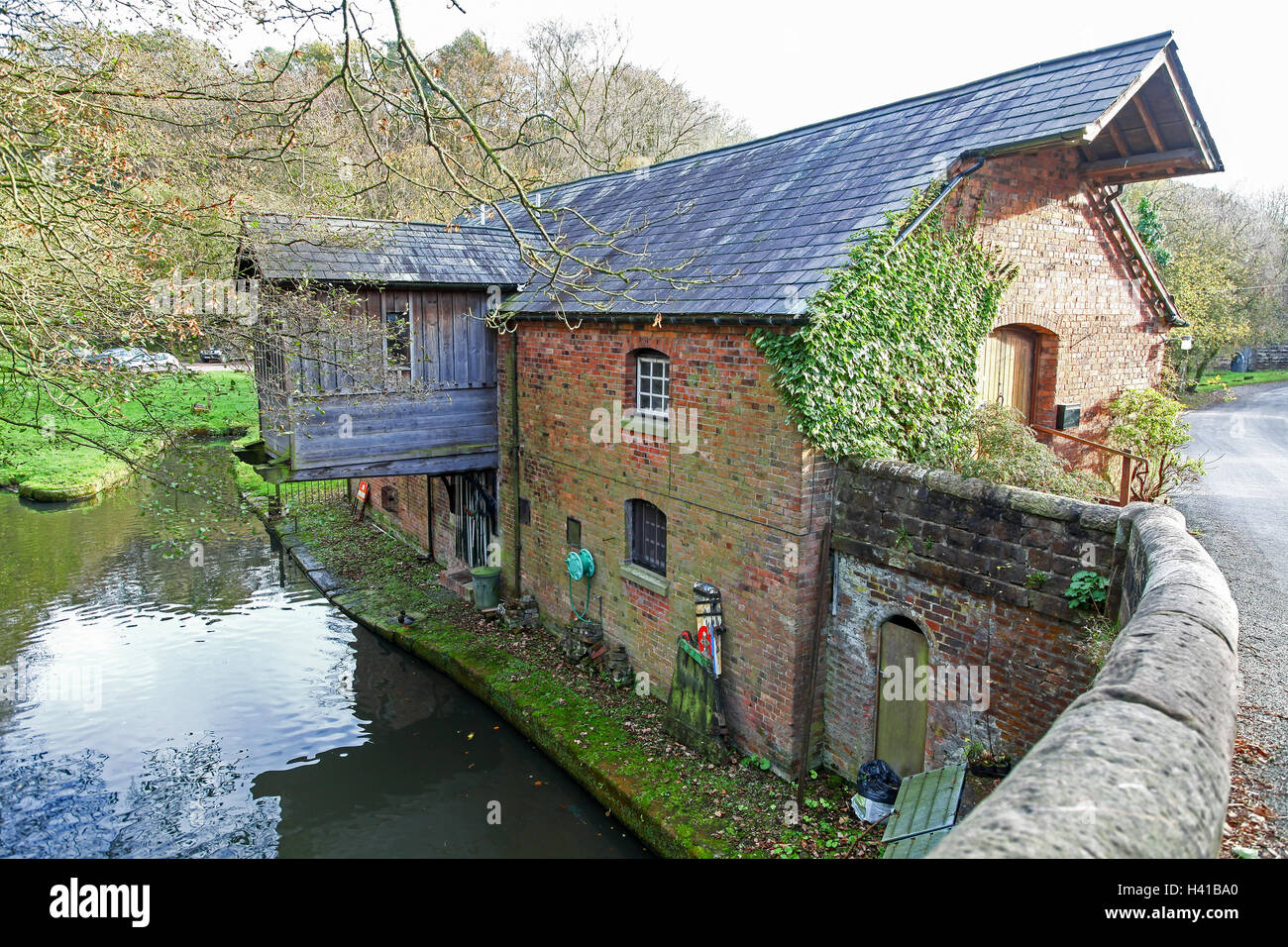 Froghall Wharf Caldon Canal Froghall Stoke-on-Trent Staffordshire Staffs England  UK - Stock Image