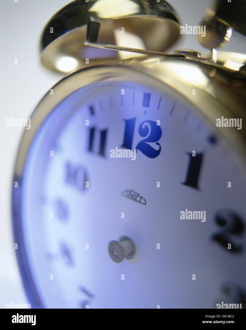 Alarm clocks, pointers, absent, icon, Timeless, close up, Still life, product photography, studio, clock, mechanically, - Stock Image