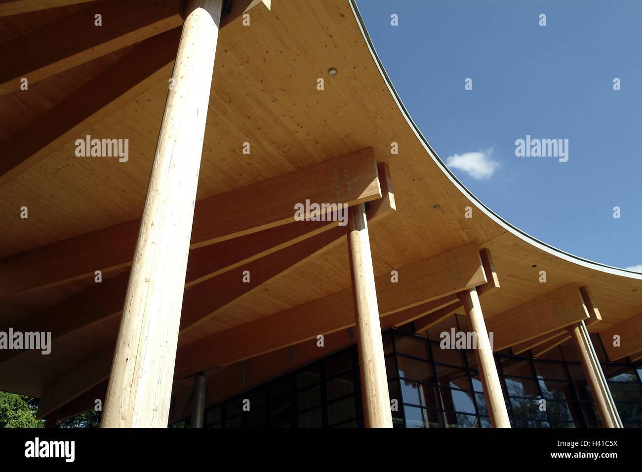 Germany, Saarland, Orscholz, Cloef atrium, detail, roof, wooden