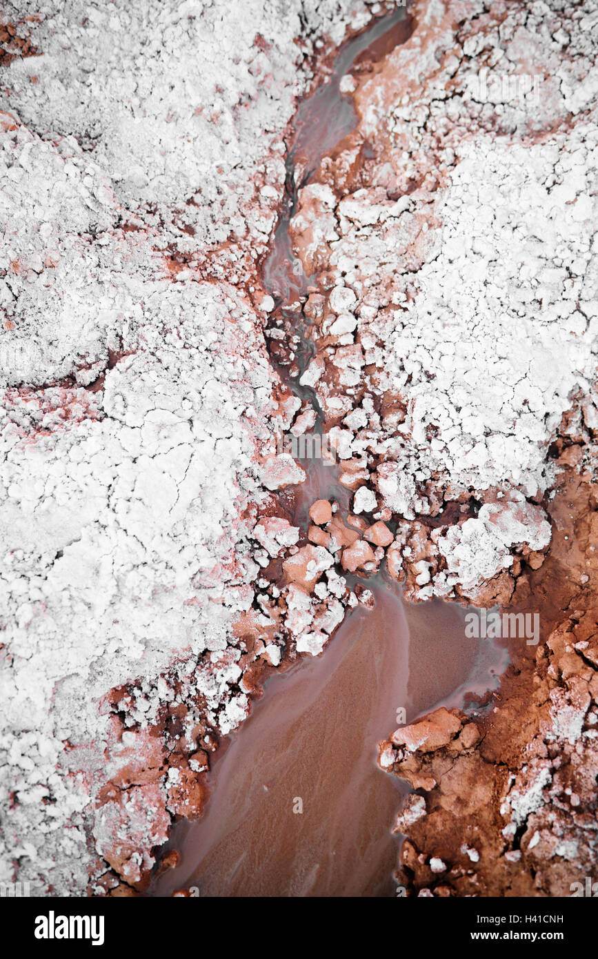 A muddy stream in southern Utah - Stock Image