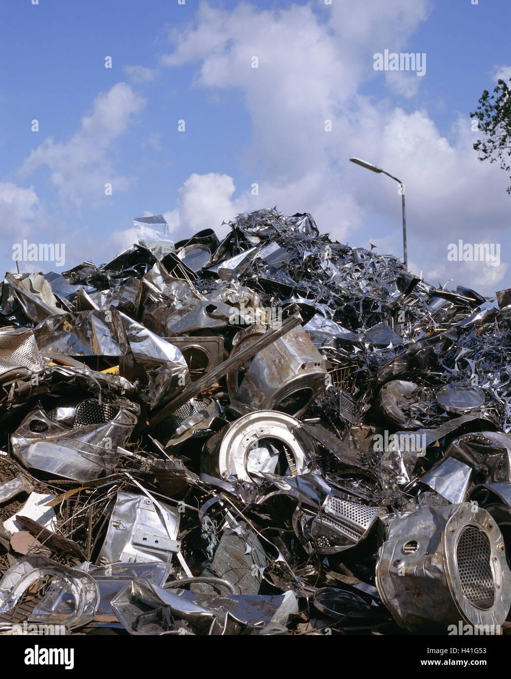 Scrap yard, scrap iron, accumulated collective place, scrap