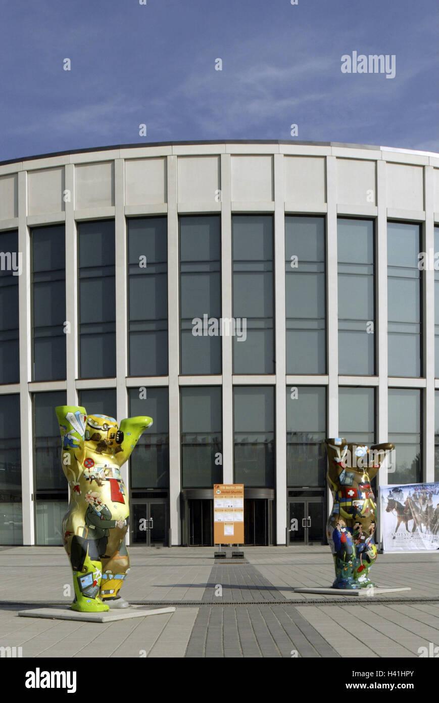 Germany, Berlin, exhibition site, Buddy Bären '# 018 + # 019, Europe, town, capital, international Congress centrum, Stock Photo