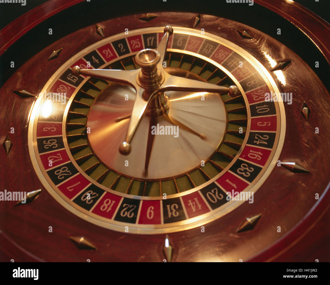 Casino, roulette, detail, casino, game chance, game, risk, chance, roulette game, roulette, roulette game, slice, - Stock Image
