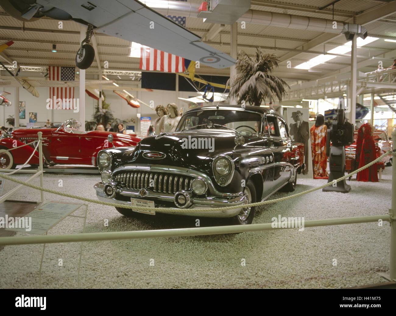 Germany, Baden-Wurttemberg, car & technology museum home Sins, Hollywood Dream coaches, Buick Kraichgau, Rhine Neckar Stock Photo