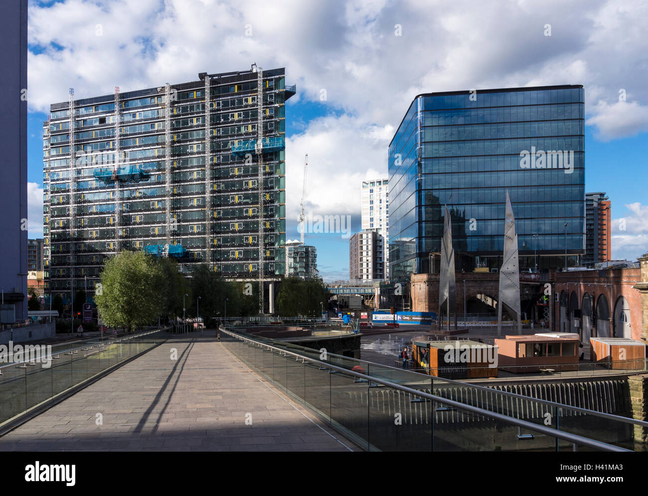 Citysuites and Embankment Developments in Manchester - Stock Image