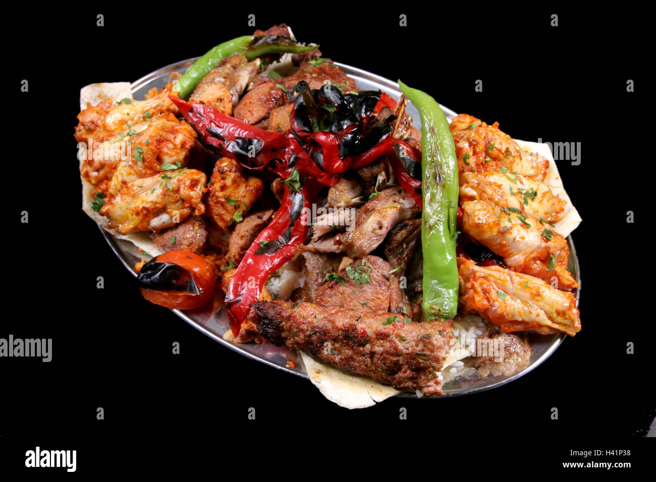 Chicken Kebab Platter High Resolution Stock Photography And Images Alamy