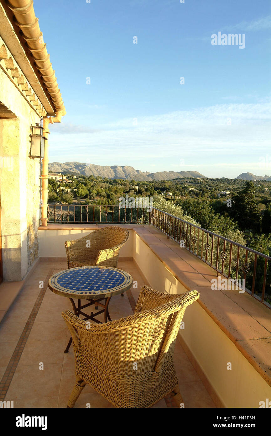 Spain, Majorca, Residence, Balcony, Basket Furniture, View Vacation House,  Domicile, House, Buildings, Residence, Hotel, Vacation Pension, Vacation  Domicile ...