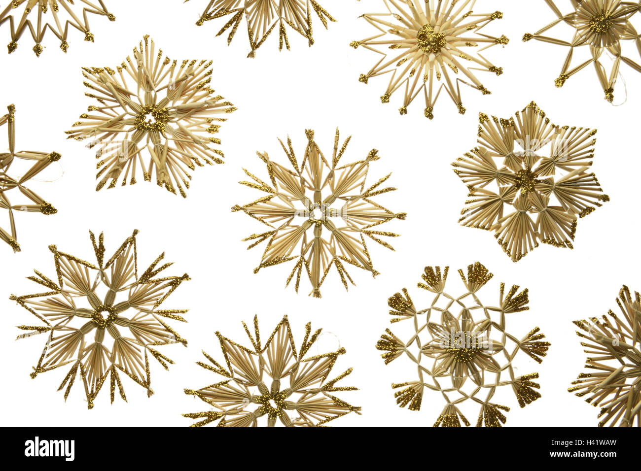 Christmas decoration, straw stars,, different, Series, straw Stock ...